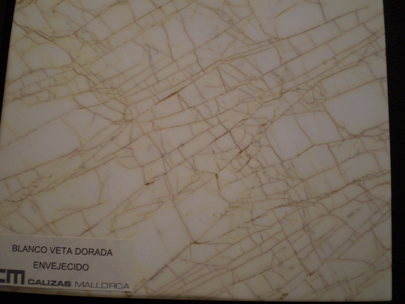 Calizas Mallorca S A Blanco Veta Dorado